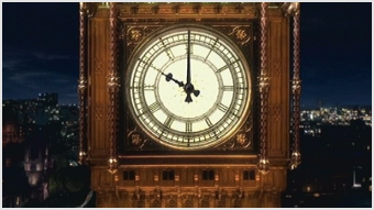 The clockface appearing in the News at Ten tit...