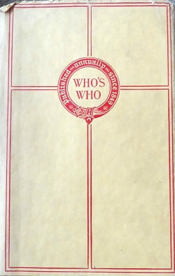 <i>Whos Who</i> (UK) British biographical dictionary