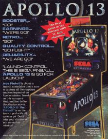 Star Wars Pinball Machine >> Apollo 13 (pinball) - Wikipedia