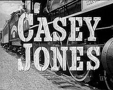 "The title ""Casey Jones"", The Cannonball Express passes by at speed."