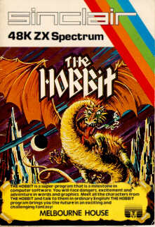 Hobbit adventure packaging - ZX Spectrum 30 years old