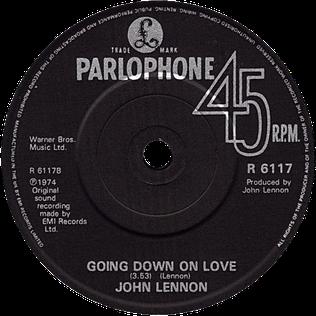 Going Down on Love 1985 single by John Lennon