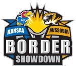 Image of Kansas vs. Missouri in the basketball border war.