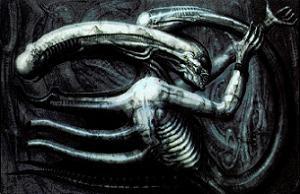 Necronom IV, Giger's surrealist painting that ...
