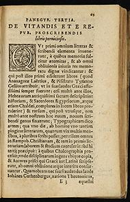 "In Panegyricae orationes septem (1596), Henric van Cuyck, a Dutch Bishop, defended the need for censorship and argued that Johannes Gutenberg's printing press had resulted in a world infected by ""pernicious lies""—so van Cuyck singled out the Talmud and the Qur'an, and the writings of Martin Luther, Jean Calvin and Erasmus of Rotterdam.[70]"