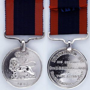 Sir Harry Smiths Medal for Gallantry