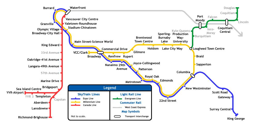 Vancouver Subway Map.Skytrain Station Renovations Metro Vancouver Proposed U C
