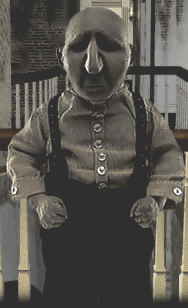 The butler, an early clay character encountered in the game.