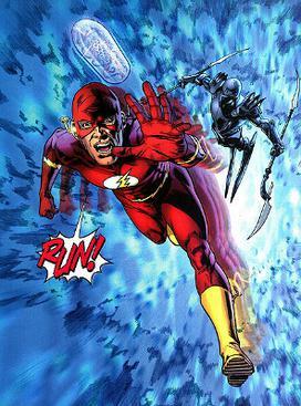 Barry Allen returns to the DC Universe, fleein...