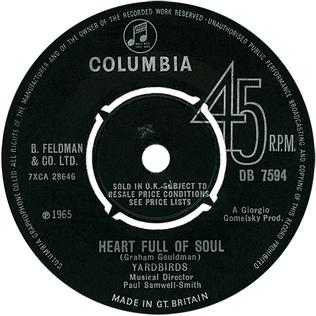 Heart Full of Soul 1965 single by The Yardbirds