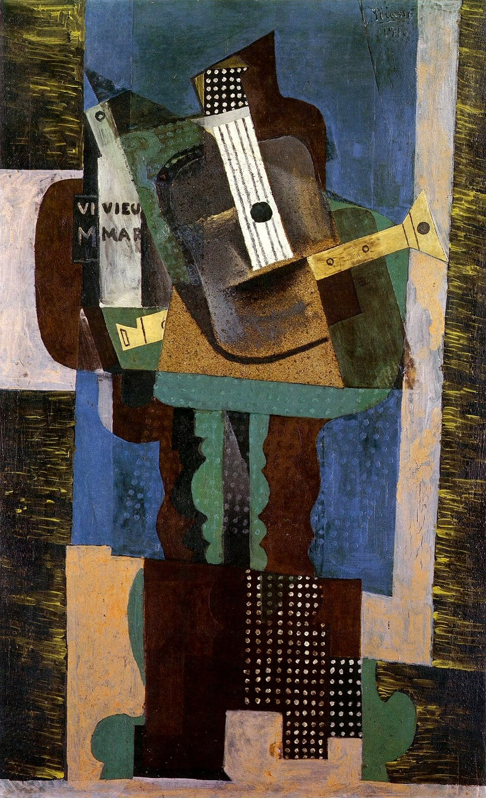 File pablo picasso 1916 guitare clarinette et bouteille sur une - Video amour sur une table ...