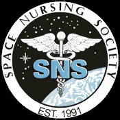 A caduceus floating above the Earth among the stars with the society name and founding date encircling it.