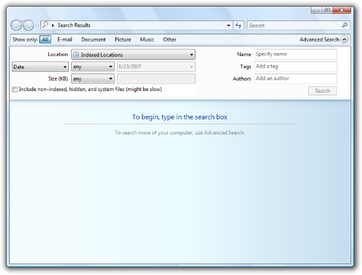 activation indexation windows 7