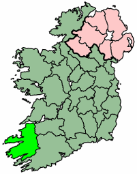 Full Map Of Ireland.File Ireland Full Map County Kerry Png Wikipedia