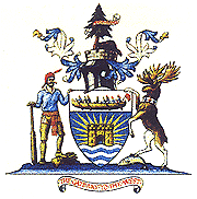 The Coat of Arms of the City of Thunder Bay, which incorporates features from the coats of arms of Port Arthur and Fort William Thunder Bay Coat of Arms.png