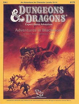 Cover of DA1 Adventures in Blackmoor