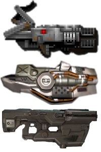 The BFG 9000, as seen in the Doom series.