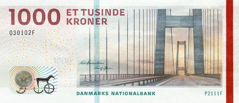 Датские политики планируют вывести из обращения купюру в 1000 крон