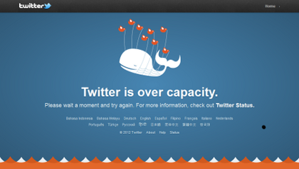 Twitter Fail Whale Message