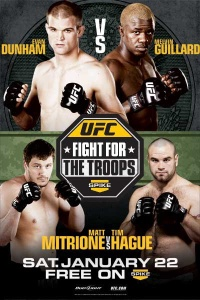 A poster or logo for UFC: Fight for the Troops 2.