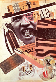 Raoul Hausmann, ABCD (self-portrait), a photomontage from 1923–24