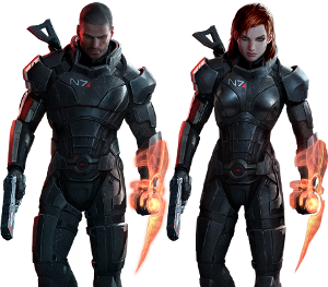 Commander Shepard character in Mass Effect