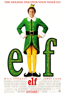 Elf; a top Christmas movie
