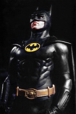 The Batsuit of the 1989 Batman film, worn by M...