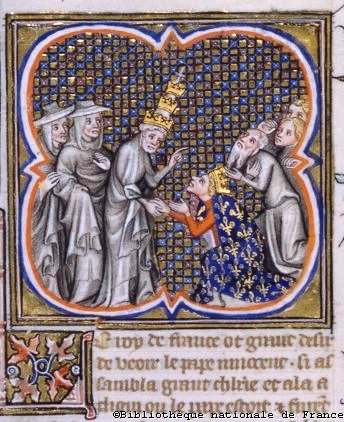 Pope Innocent IV with Louis IX at Cluny Louis-innocentiv.jpg