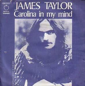 Image result for carolina in my mind james taylor single images