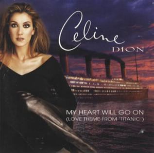 Celine Dion CD cover of My Heart Will Go On