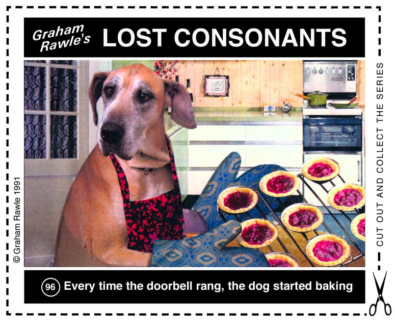 Lost Consonants by Graham Rawle 96 dog baking.jpg