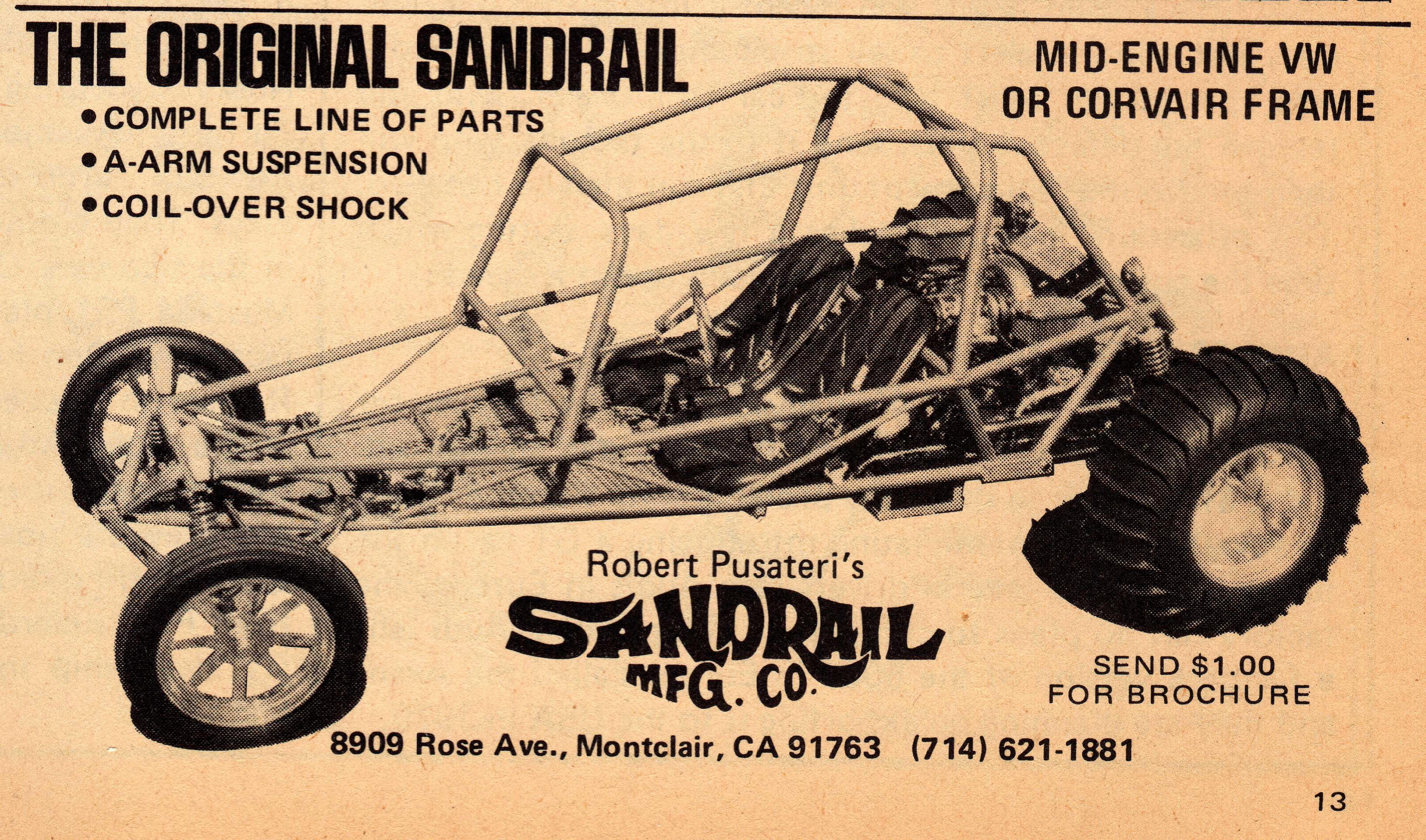Sandrail Wikipedia 1978 Oldsmobile Engine Diagram Frame Advertisement Circa