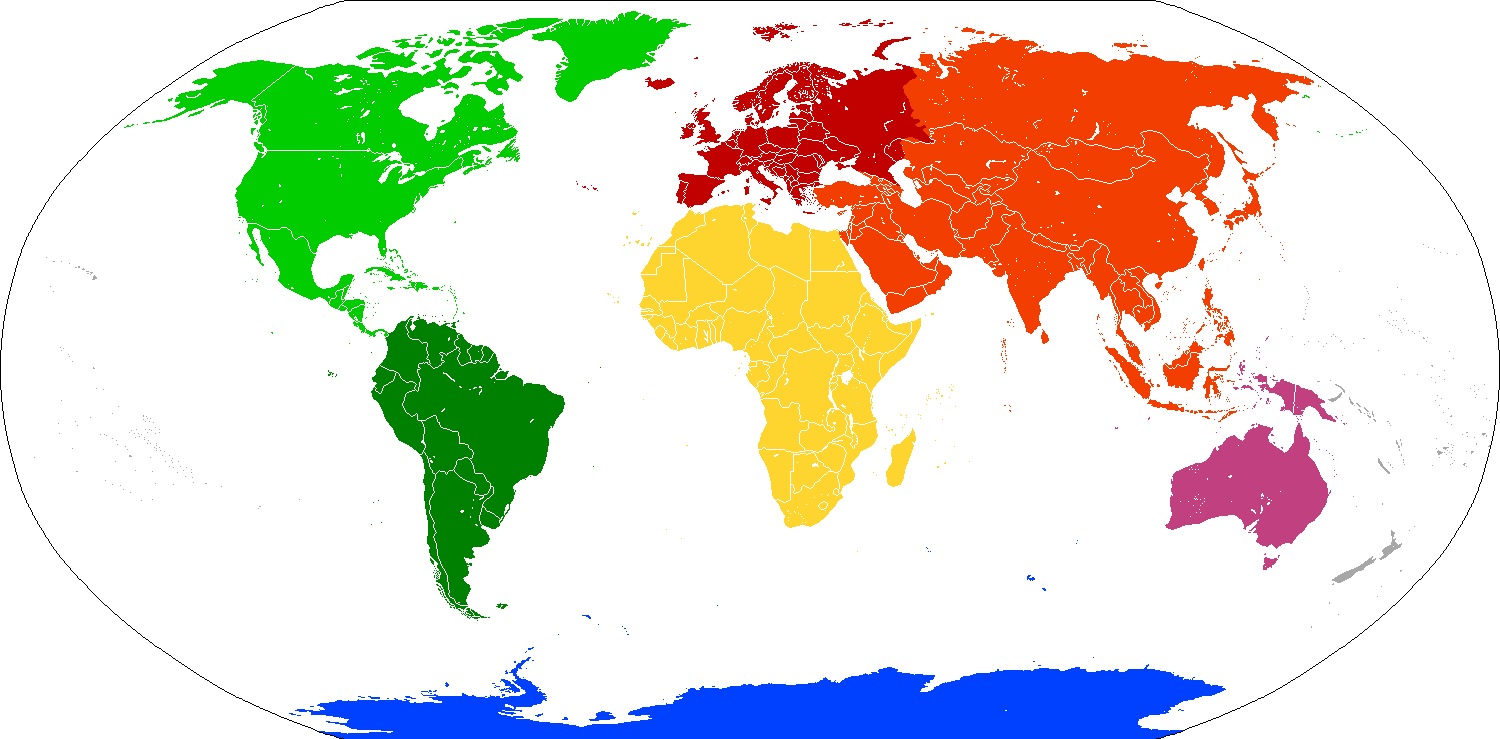 How many continents on Earth are inhabited by people 57