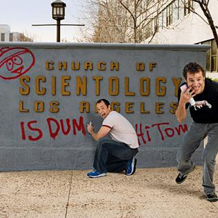 South Park creators graffiti Scientology hq