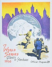 "The program for the 1936 ""Subway Series""."