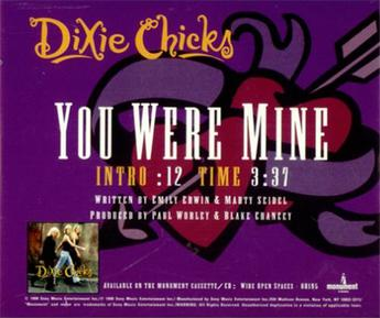 When you were mine by dixie chicks