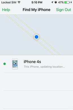 Find My iPhone screenshot on iOS.PNG