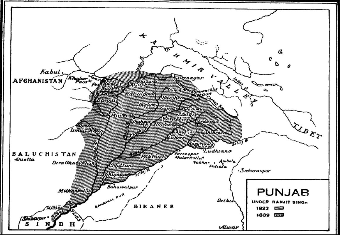 The history of punjap state of sikh religion
