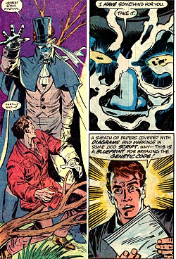 Phaeder gives the High Evolutionary the blueprint for breaking the genetic code.
