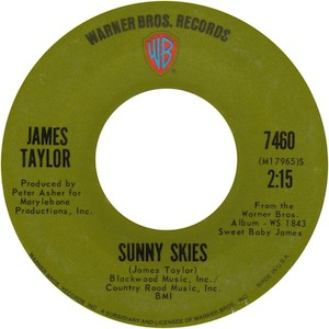 Sunny Skies (song) 1971 song performed by James Taylor