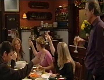 "The Watts family, Christmas 2004. The episode, ""reprised the trick that once recorded soap's biggest ever ratings by gathering the Watts family for a festive row in the Queen Victoria pub."" WattsXmas2004.jpg"