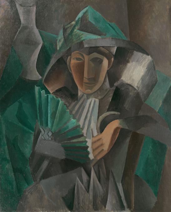 File:Pablo Picasso, 1909, Femme à l\'éventail (Woman with a Fan), oil ...