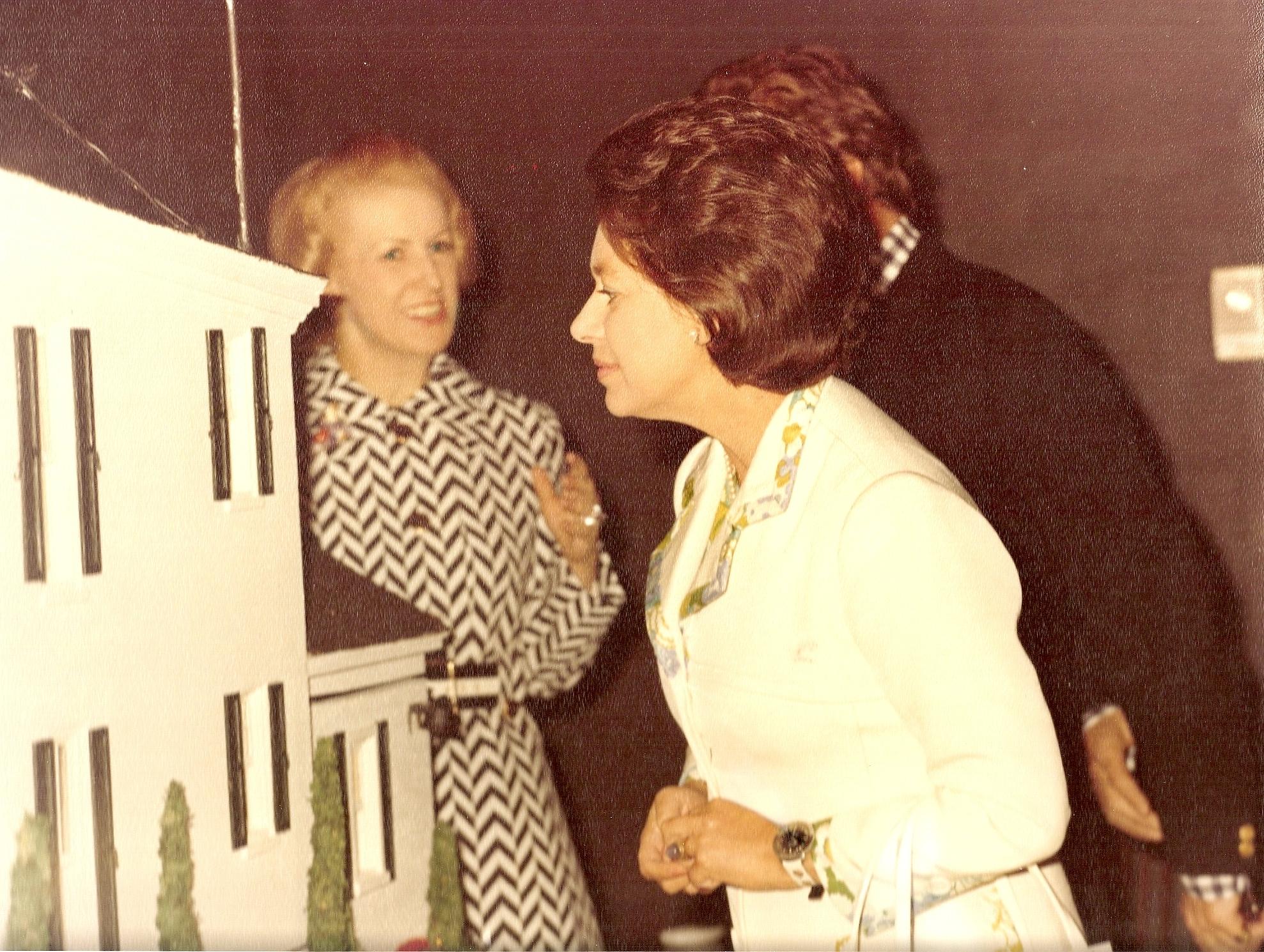 :Princss Margaret viewing Cornelia Vanderbilt Whitney Dollhouses.jpg