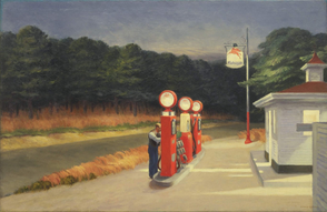Where is the edward hopper gas station