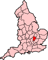 Ancient extent of Bedfordshire