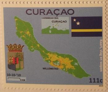 Landkarten auf Briefmarken - Seite 2 First_stamp_of_Cura%C3%A7ao