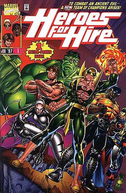 Heroes for Hire #1 (1997). Art by Pasqual Ferry.