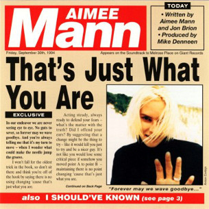Thats Just What You Are 1994 song by Aimee Mann