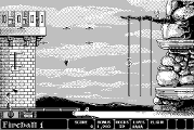 A screenshot from the Mac version of the Dark Castle game.